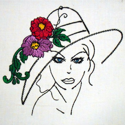 Glamour hats embroidery design set for Embroidery office design version 7 5