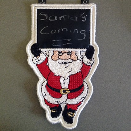 Banner Santa Machine Embroidery Design
