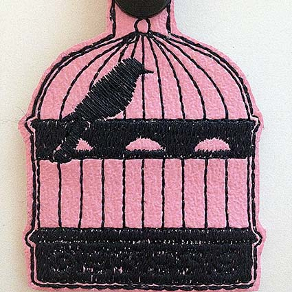 Key Fob Machine Embroidery Design