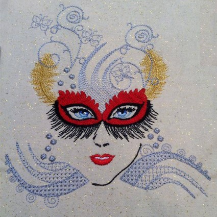 Mystique Lady Machine Embroidery Design