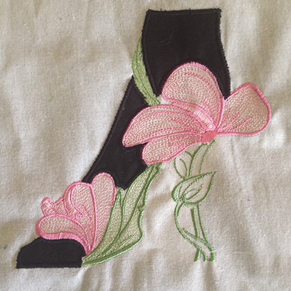 Black Heels Machine Embroidery Design