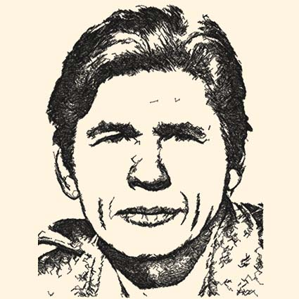 Charles Bronson Photo Stitch Embroidery Design