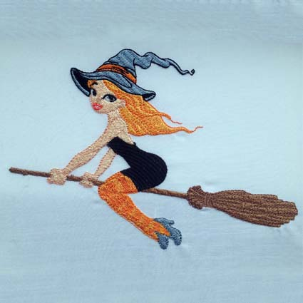 Sweet Witch Machine Embroidery Design