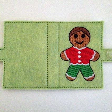 Gingerbread Machine Embroidery Design