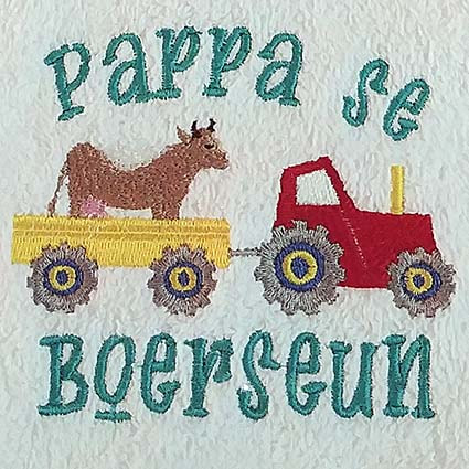 Afrikaans Machine Embroidery Design