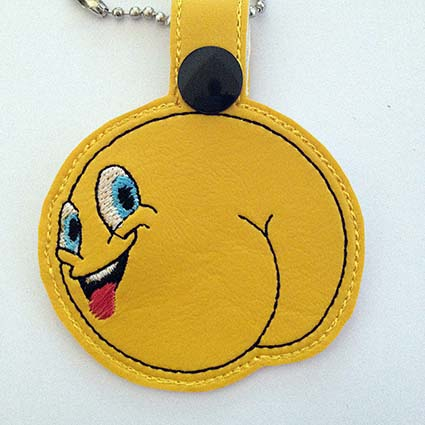 emoji funny key fob Key Fob machine embroidery design