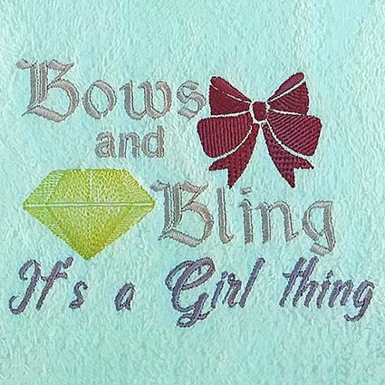 Bows and Bling Machine Embroidery Design