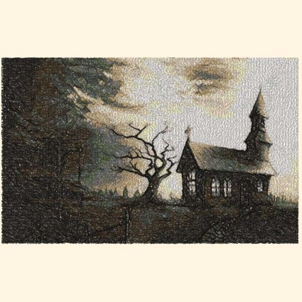 church photo stitch machine embroidery design