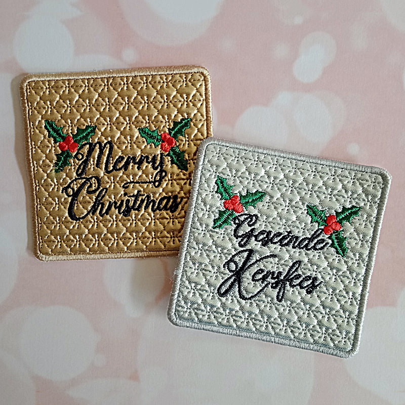Christmas Coaster Machine Embroidery Design