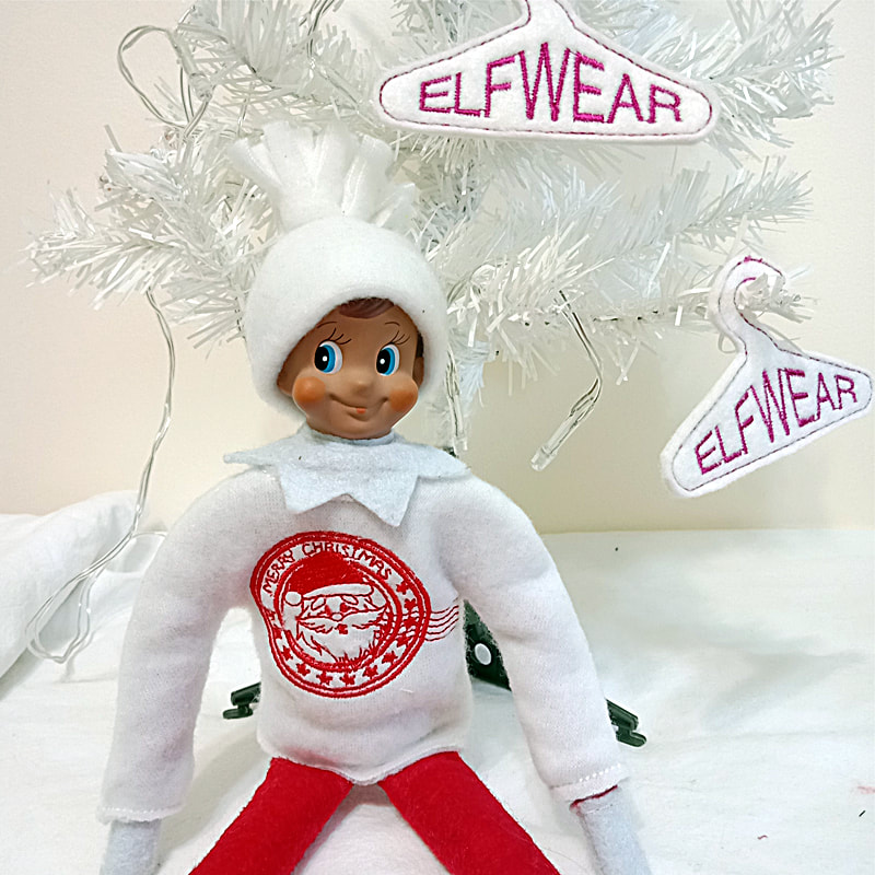 Elf Stamp Sweater Machine Embroidery Design