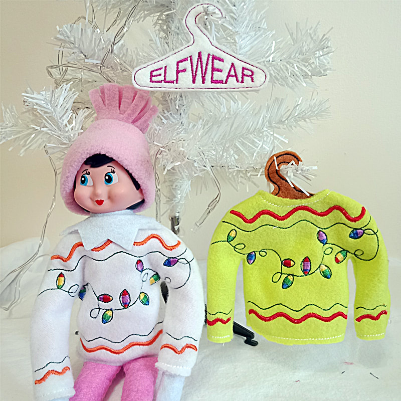 Elf Ugly Sweater Machine Embroidery Design