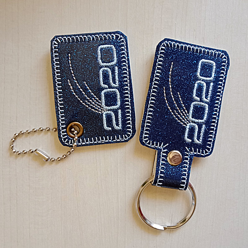 2020 Key Tag Machine Embroidery Design