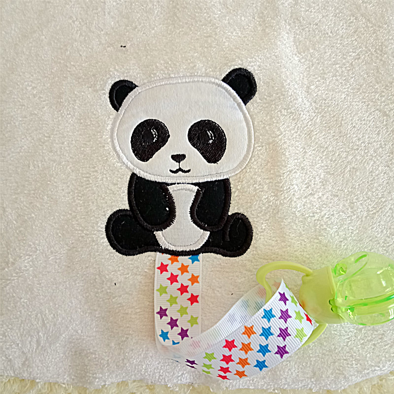 Baby Panda Machine Embroidery Design