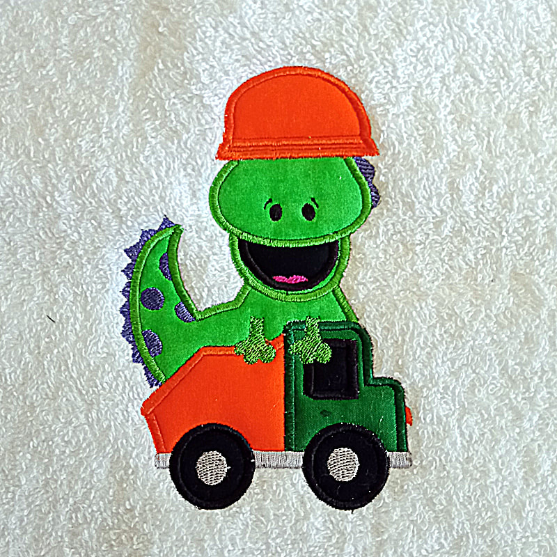 Dino Truck Machine Embroidery Design