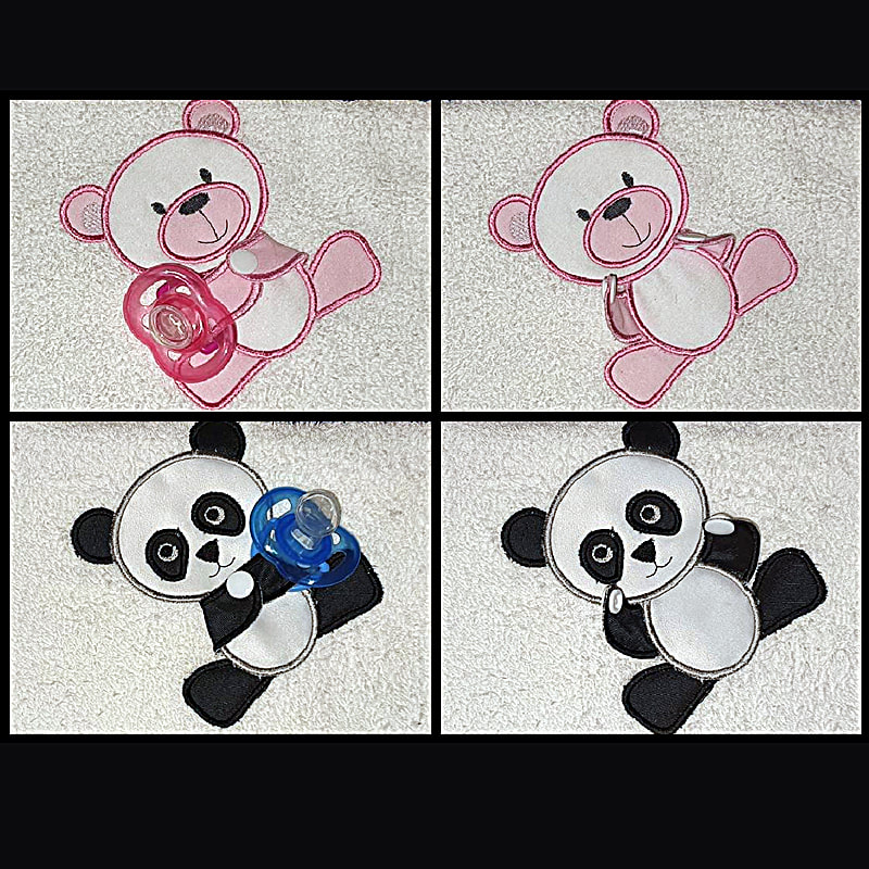 Panda Machine Embroidery Design