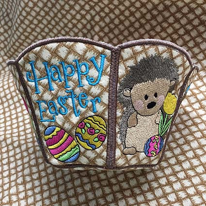 Easter machine embroidery design