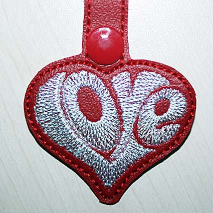 valentine key fob machine embroidery designs