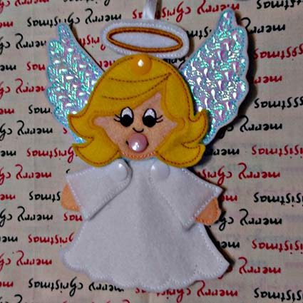 angel machine embroidery design