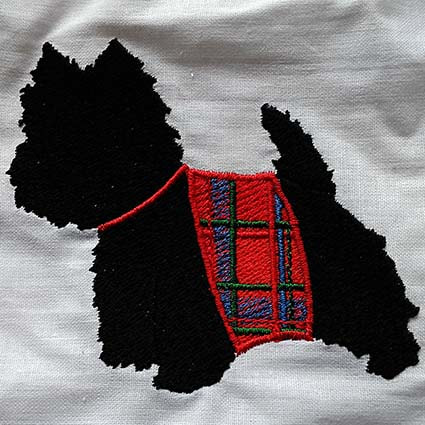 Terrier Machine Embroidery Design